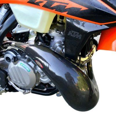 Carbon Krümmerschutz 2 Takt KTM EXC 250/300 20-  XL