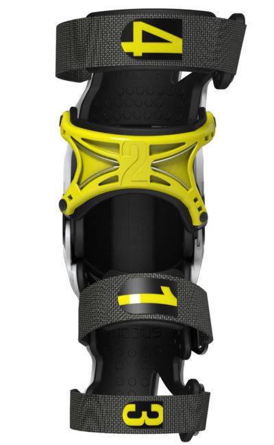 Mobius Knee Brace X8 Paar weiß-gelb