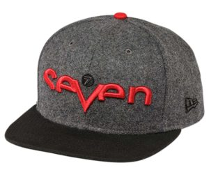 Seven Cap Brand grey red