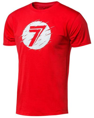 Seven T-Shirt Kinder Dot red