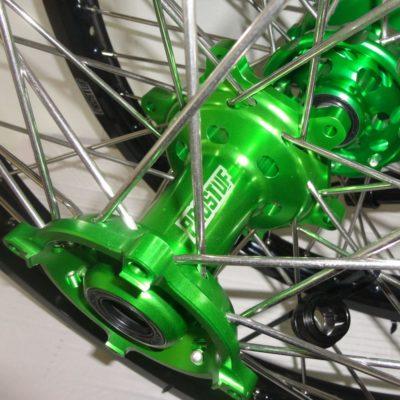 Pro-S Radsatz + Scheiben KAWASAKI KX KXF schwarz-grün 21″/1