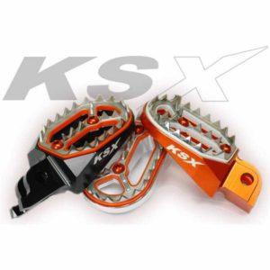 """""""PUNK"""" Stahl Fussrasten KTM SX SXF EXC 125-530 98-15"""