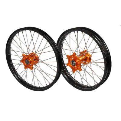 Pro-S Radsatz + Scheiben KTM SX EXC orange-schwarz 21″/18″
