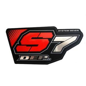 DEP S7 Can Schalldämpfer Sticker / red