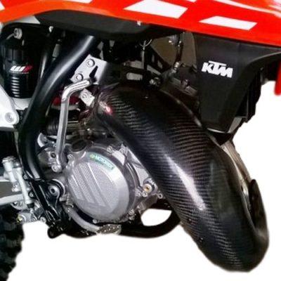 Carbon Krümmerschutz 2 Takt KTM EXC XC / HUSQVARNA TX 125 17-19  XL