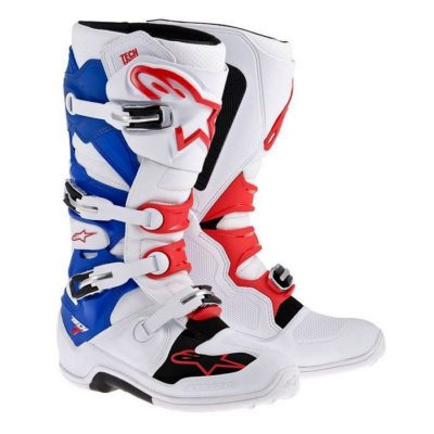 Alpinestars Tech 7 Boots – white/blue/red
