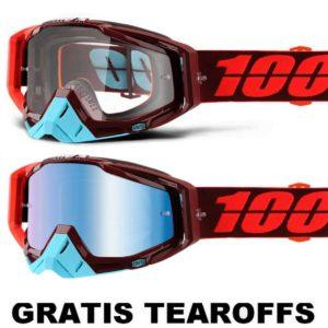 100% –  Racecrafti Brille – Tanaka / GRATIS TEAROFFS