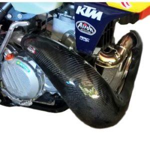 Carbon Krümmerschutz 2 Takt KTM EXC / HUSQVARNA TE 250/300 17-19  XL