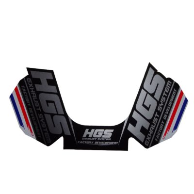 HGS 4 Takt Schalldämpfer Sticker / Black