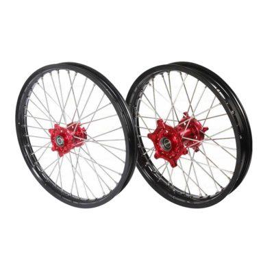 Pro-S Radsatz Räder Beta RR red-black 21″/18″