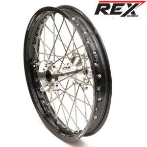 REX Hinterrad Kawasaki KXF 250/450 silber/schwarz- 2,15×19