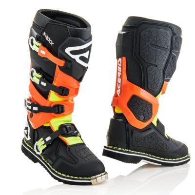 Acerbis X-Rock Stiefel (Stiefel mit Gelenk) / orange/schwarz