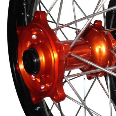 """Radsatz """"ready to go"""" KTM SX EXC orange-schwarz 21″/19″"""