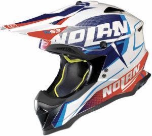 Nolan N53 Helm – Sidewinder Metall blue/white – M