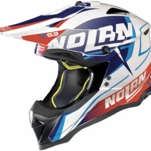 Nolan N53 Helm – Sidewinder Metall blue/white `18