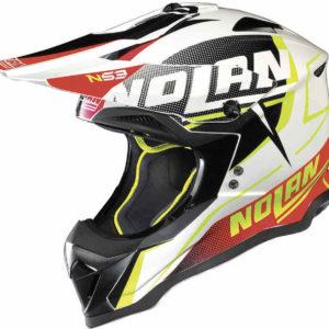 Nolan N53 Helm – Sidewinder Metall red/white `18