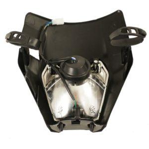 ZAP Lampenmaske mit Scheinwerfer KTM EXC 17- / schwarz