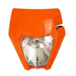 ZAP Lampenmaske mit Scheinwerfer KTM EXC 17- / orange