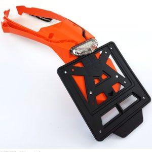 Kennzeichenhalter Rücklicht Integra System KTM EXC 17- / orange