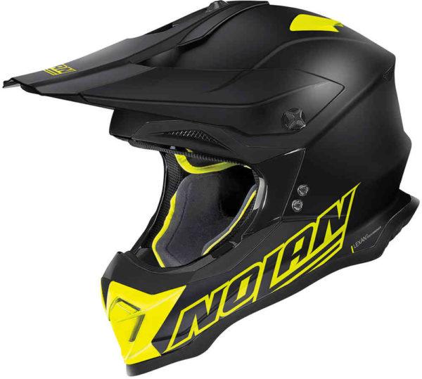 Nolan N53 Helm – Vulture Black/Yellow –