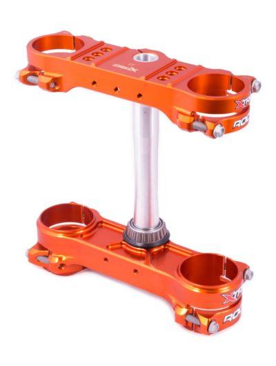 Xtrig ROCS Tech Gabelbrücke Triple Clamps KTM SX/SXF/XC 250 350 450 offset 22 orange