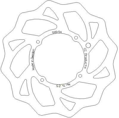 Cross-Center Bremsscheibe vorn KTM SX 85 13-16 / Husqvarna TC 85 14-16 240mm