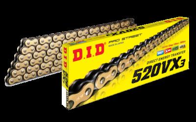 DID 520 VX3 Kette (118G) gold/black, Zugfestigkeit 3720kg