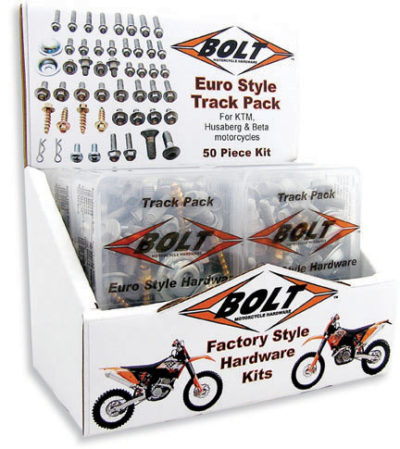 BOLT Track Pack EURO Schraubenkit 4-tlg m. Display