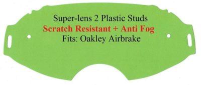 Polywel Ersatzglas Oakley Airbrake MX kratzfest gelb