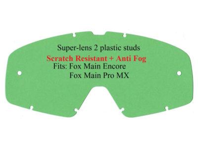 Polywel E-Glas Scheibe FOX Main Pro Encore m. Halter klar