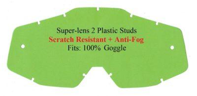 Polywel E-Glas Scheibe 100% für Accuri Strata Racecraft Brille – kratzfest klar