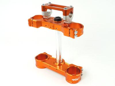 GECO 2D Gabelbrücke KTM SXF 125-530 13-,EXC 125-530 14- orange  20mm Versatz, inkl. Anbaukit