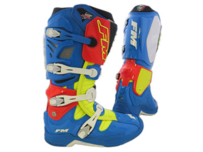 FM TYPHOON Stiefel blau/gelb/orange Gr. 45