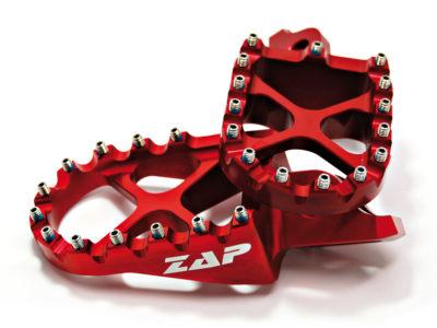 ZAP X-Peg Fußraste Kawasaki KXF250 06- / 450 07- Rot