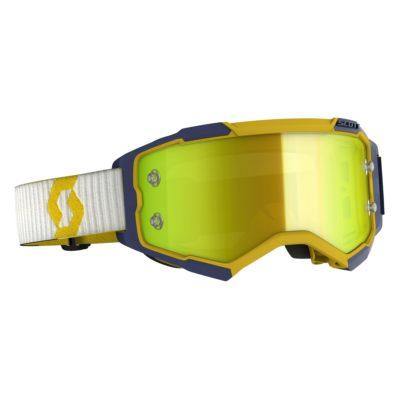 SCOTT Fury yellow/blue / yellow chrome works