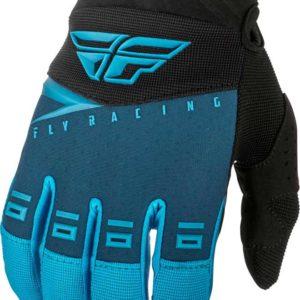 Fly Racing Glove F-16 Kids blue-black-hi-vis