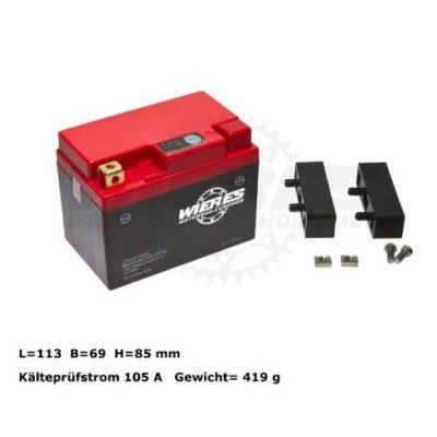 Batterie 12V 19Wh Lithium Ionen – wartungsfrei KTM EXC 250 300 07-16