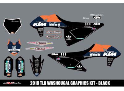 N-STYLE TLD KTM Team KIT Schwarz SX-F 19-