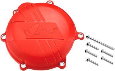 UFO CLUTCH COVER W/MOUNTING KIT HONDA CRF250 RED