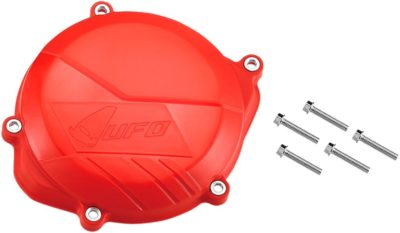 UFO CLUTCH COVER W/MOUNTING KIT HONDA CRF450 RED