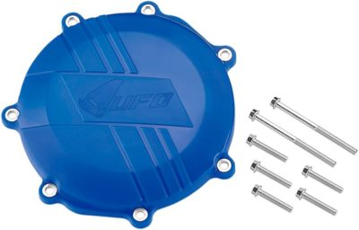 UFO CLUTCH COVER W/MOUNTING KIT YAMAHA YZF/WR 450 BLUE