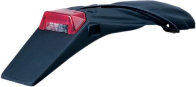 UFO LICENSE PLATE HOLDER WITH TAIL/STOP-LIGHT KTM 2/4-STROKE BLACK
