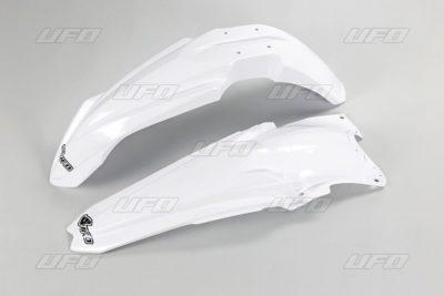 UFO Vorne & Hinterradkotflügel KIT YAMAHA YZ450F WHITE