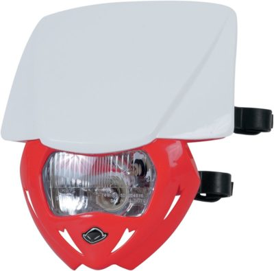 UFO PANTHER Lampenmaske (12V/35W) DUAL COLOR WHITE/CRF-RED