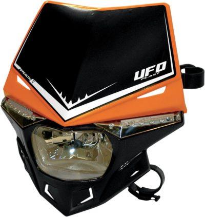 UFO STEALTH Lampenmaske (12V/35W & LED) DUAL COLOR ORANGE/BLACK