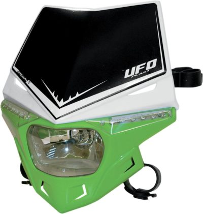 UFO STEALTH Lampenmaske (12V/35W & LED) DUAL COLOR WHITE/KX-GREEN
