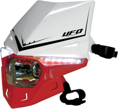 UFO STEALTH Lampenmaske (12V/35W & LED) DUAL COLOR WHITE/CRF-RED