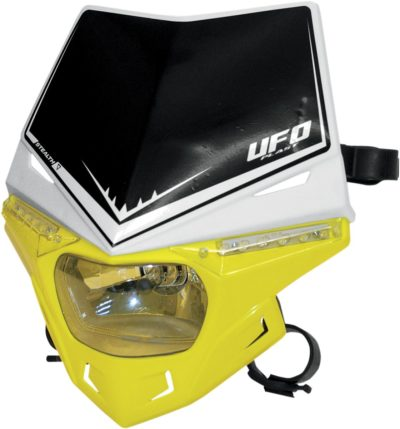 UFO STEALTH Lampenmaske (12V/35W & LED) DUAL COLOR WHITE/RM-YELLOW