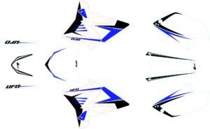 RESTYLE GRAPHIC KIT YAMAHA YZ125/250 WHITE
