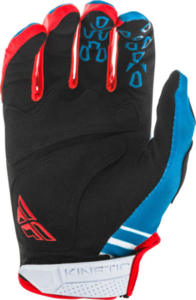 Fly Racing Glove Kinetic K220 Kids blue-white-red